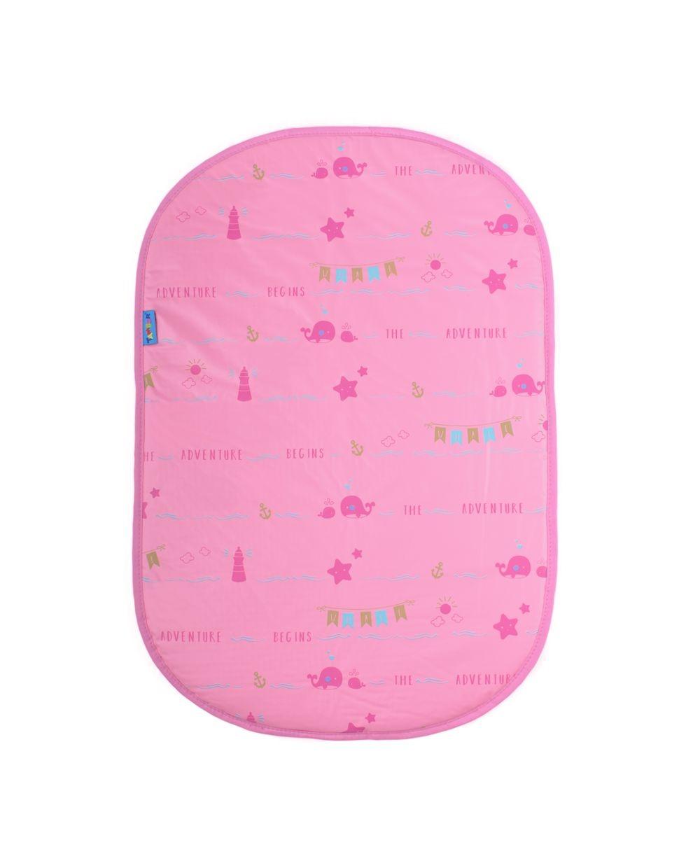 Cambiador plástico rosado