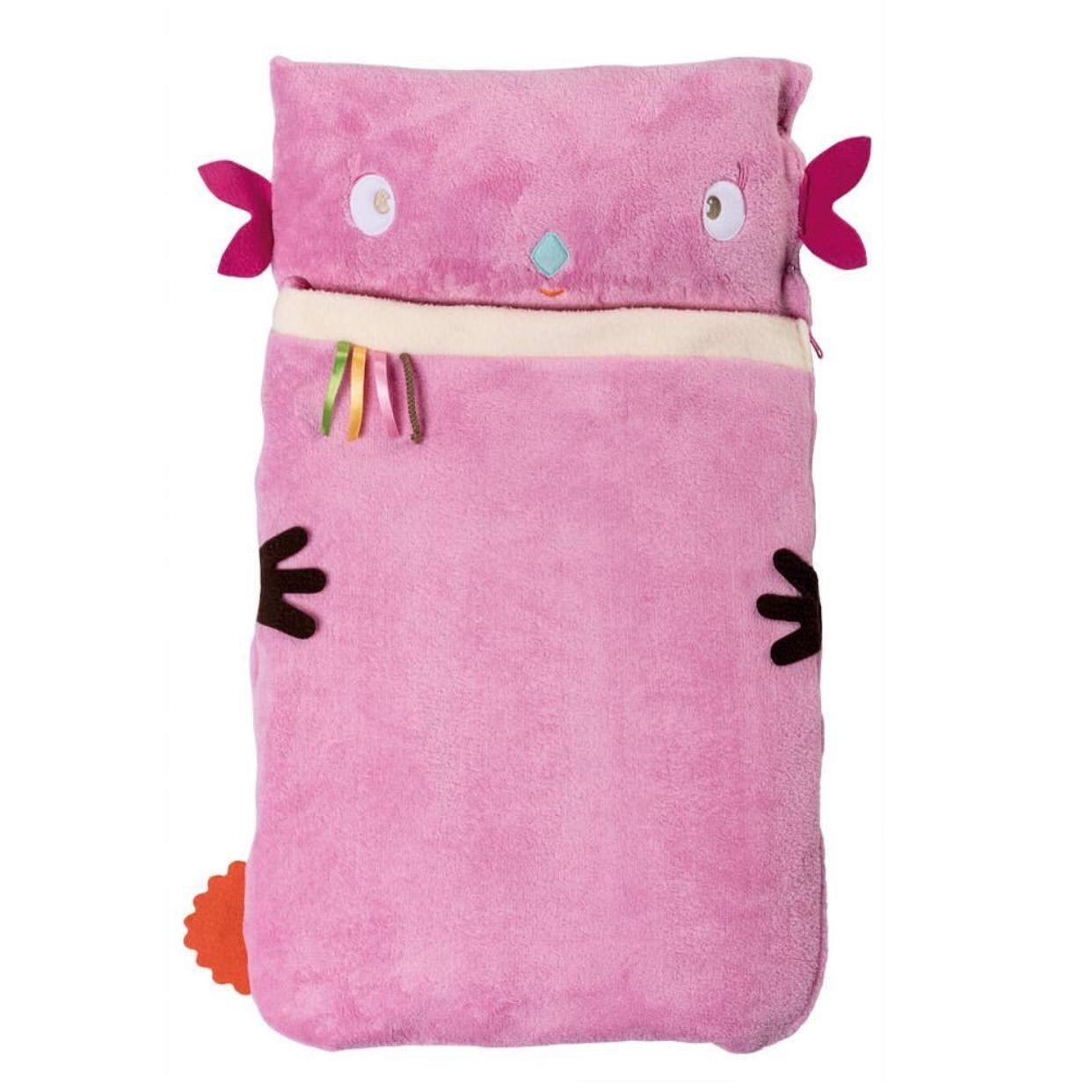 Sleeping bag con almohada rosado
