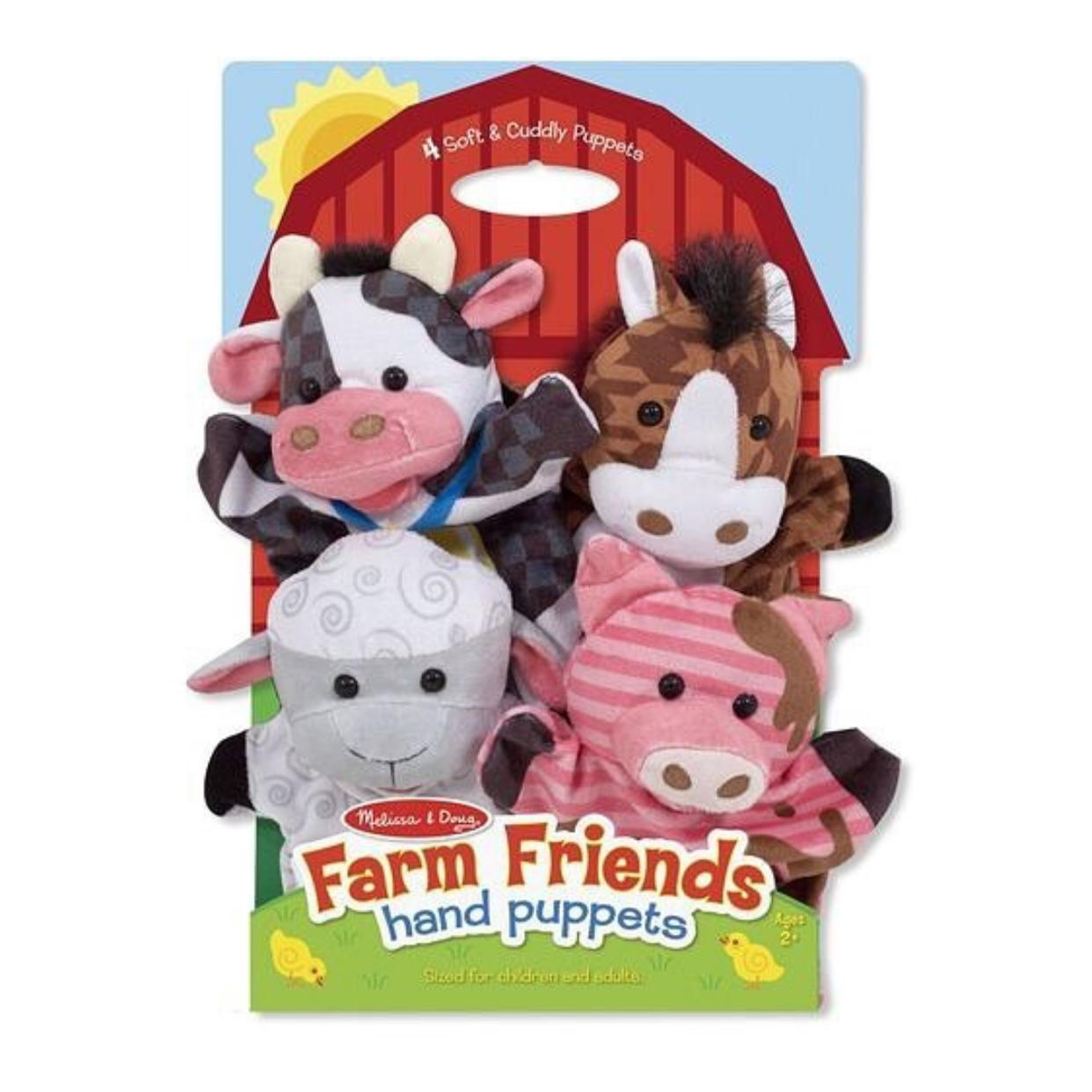 Set x 4 Titeres animales de la granja