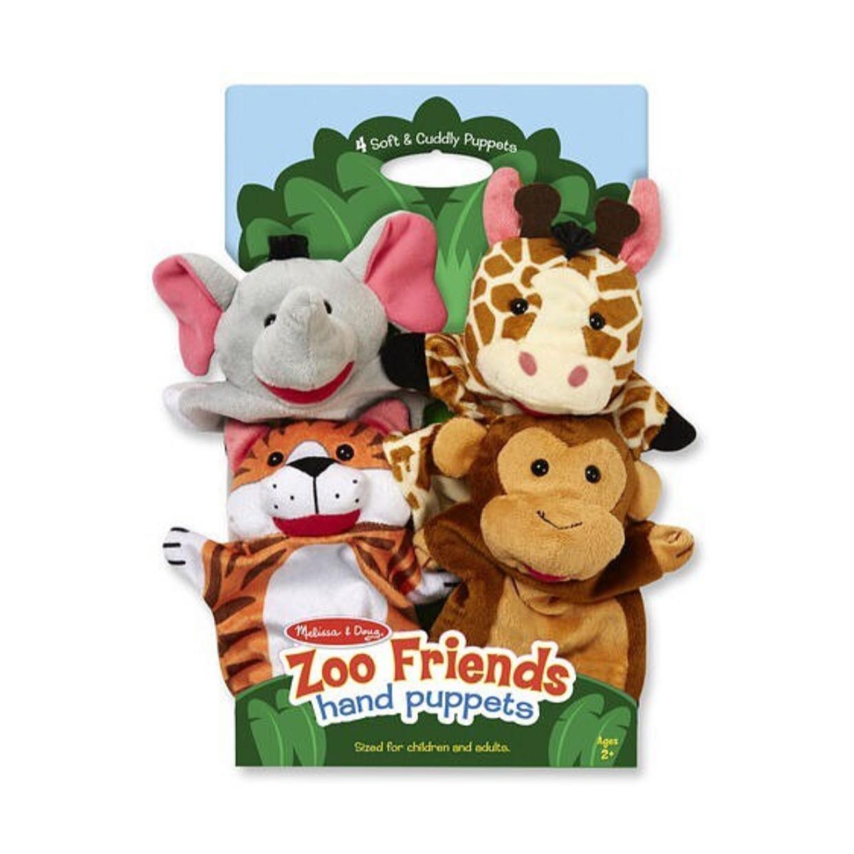 Set x 4 Titeres animales del zoo