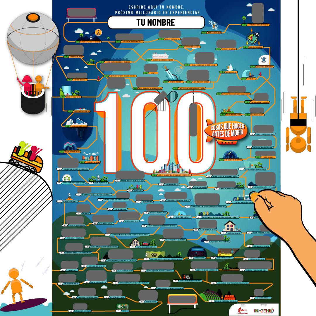 PÓSTER 100 COSAS QUE HACER ANTES DE MORIR