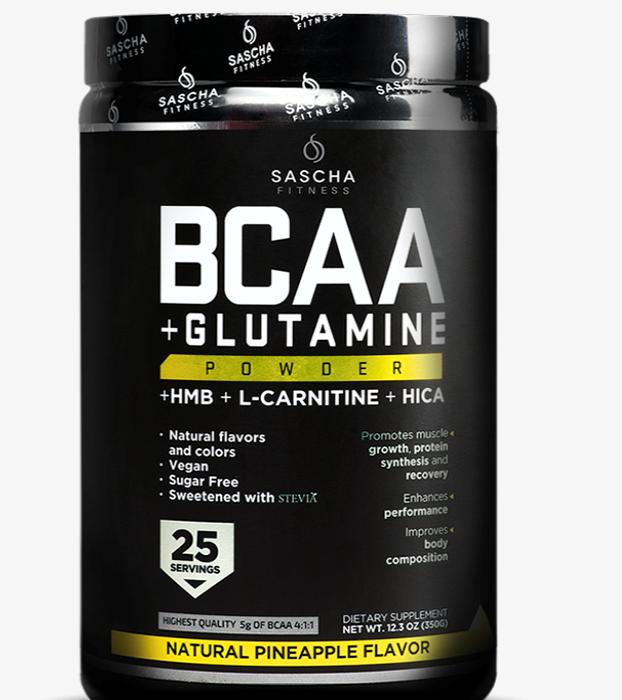 BCAA + GLUTAMINA  PIÑA 356G