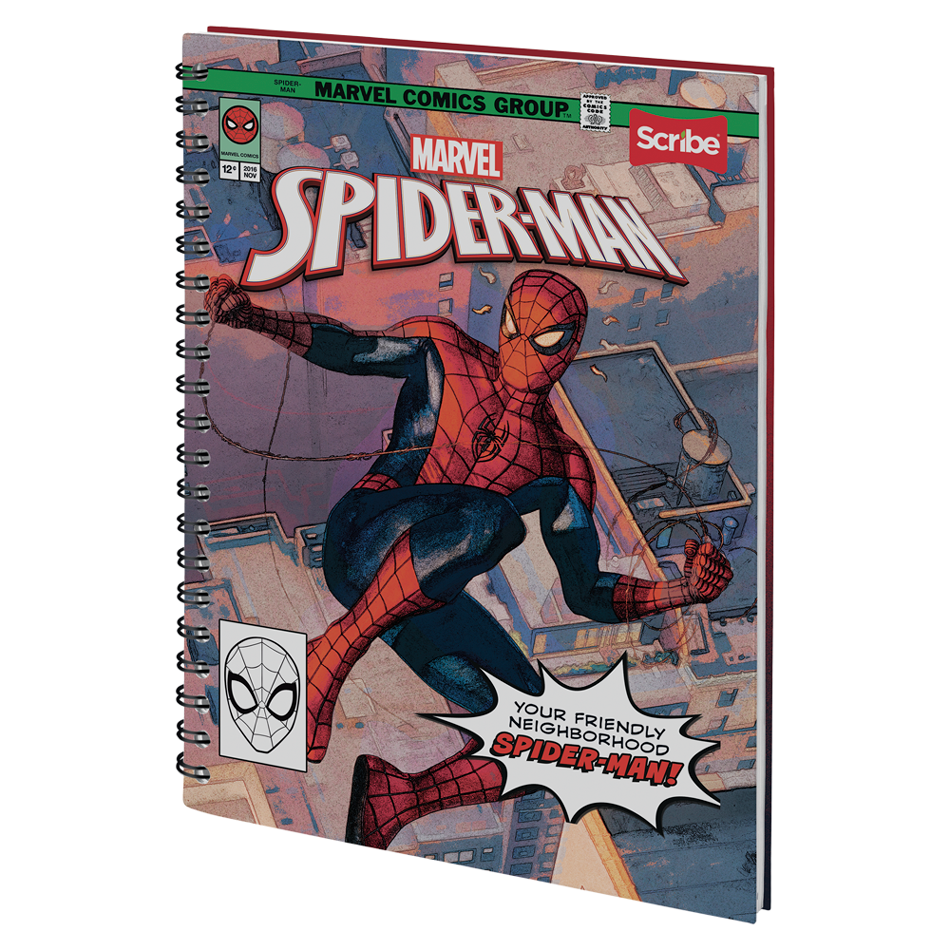 CUADERNO OO PD 105-2 SPIDERMAN MAX SCRIBE
