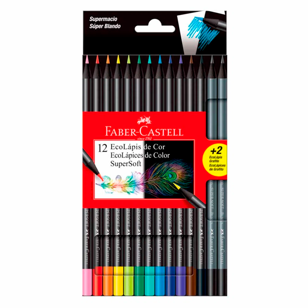 COLOR FABER SUPERSOFT x 12+2 UN.
