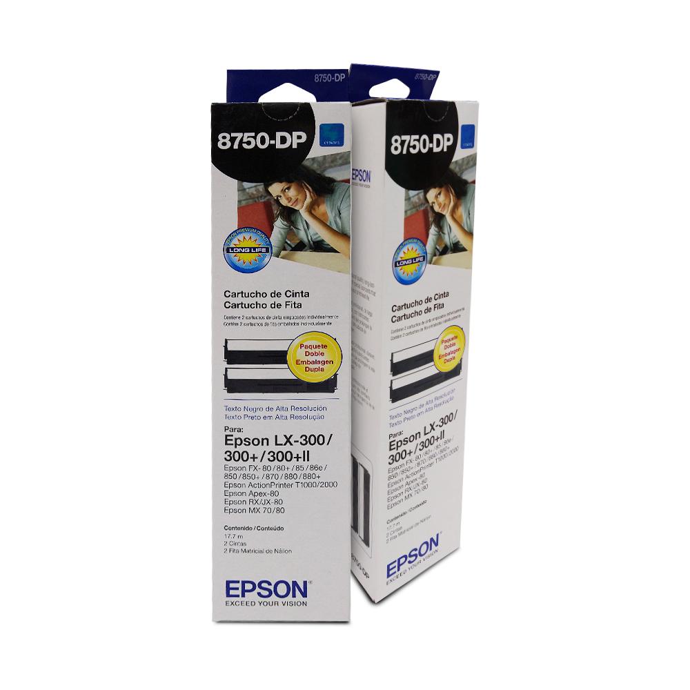 CINTA EPSON 8750 DUAL PACK LX-300 FX80/80+/85/86 B