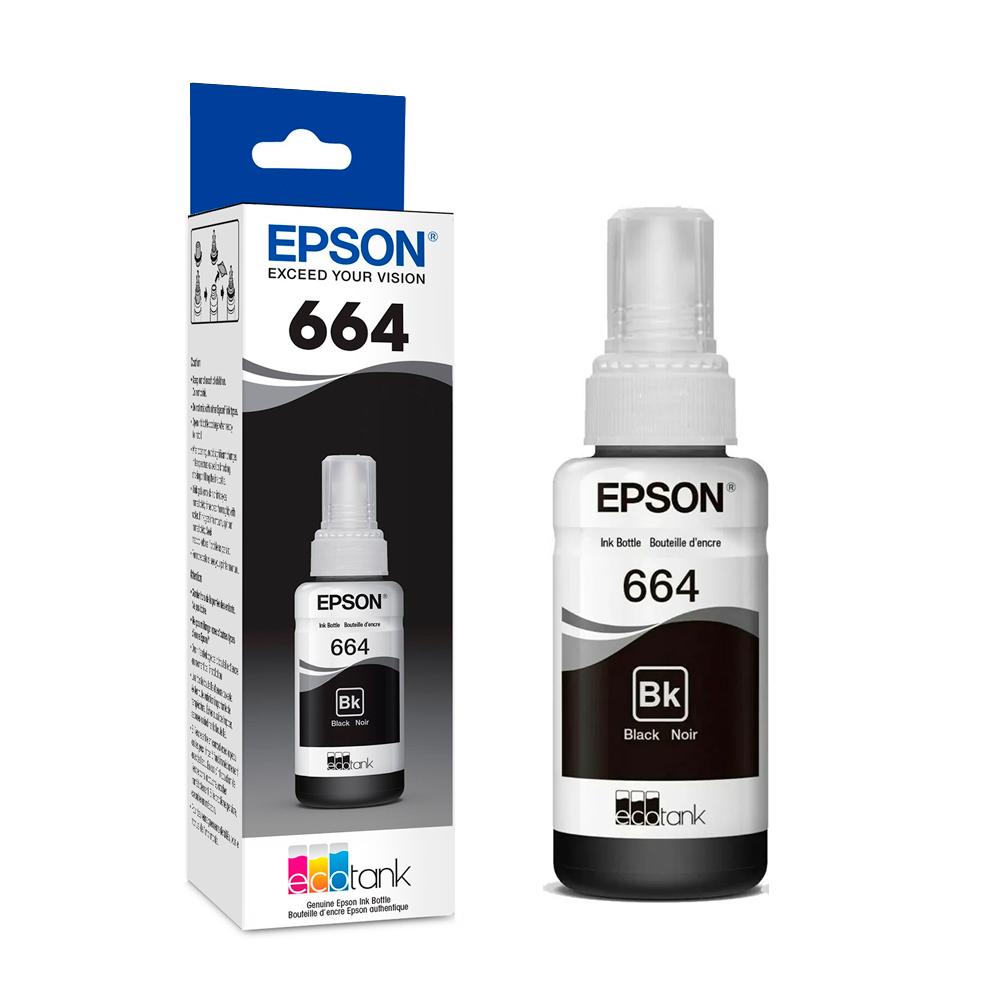 TINTA BOTELLA EPSON T664120 BK L120/200/