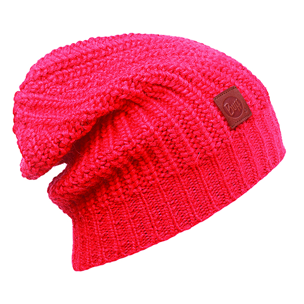 BUFF KNITTED HAT GRIBLING FIERY RED