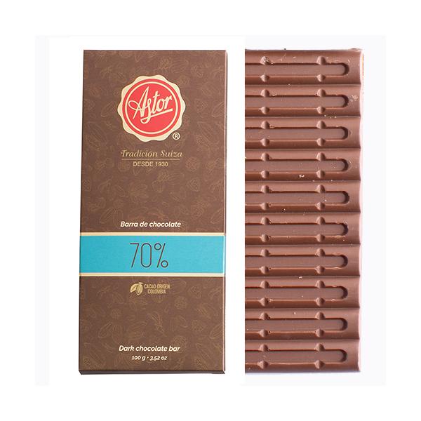 BARRA DE CHOCOLATE AL 70% DE CACAO
