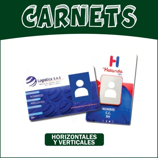 Carnet Pvc a full color