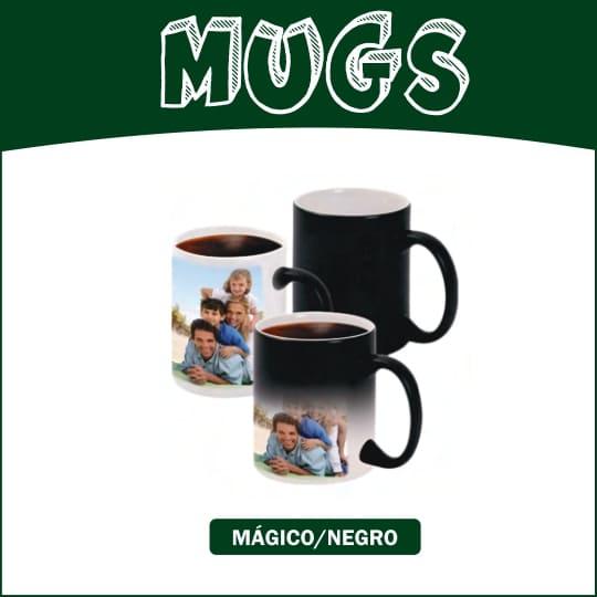 Mugs Negro 11 onzas Recuadro Blanco