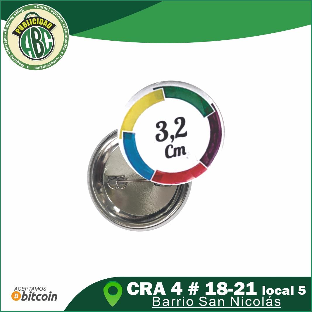 Botones Publicitarios 3.2 cm