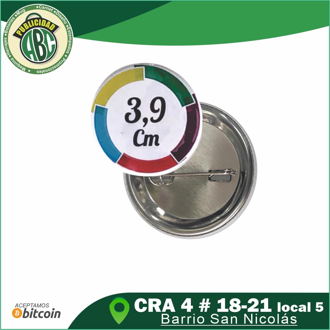 Botones Publicitarios 3.9 cm