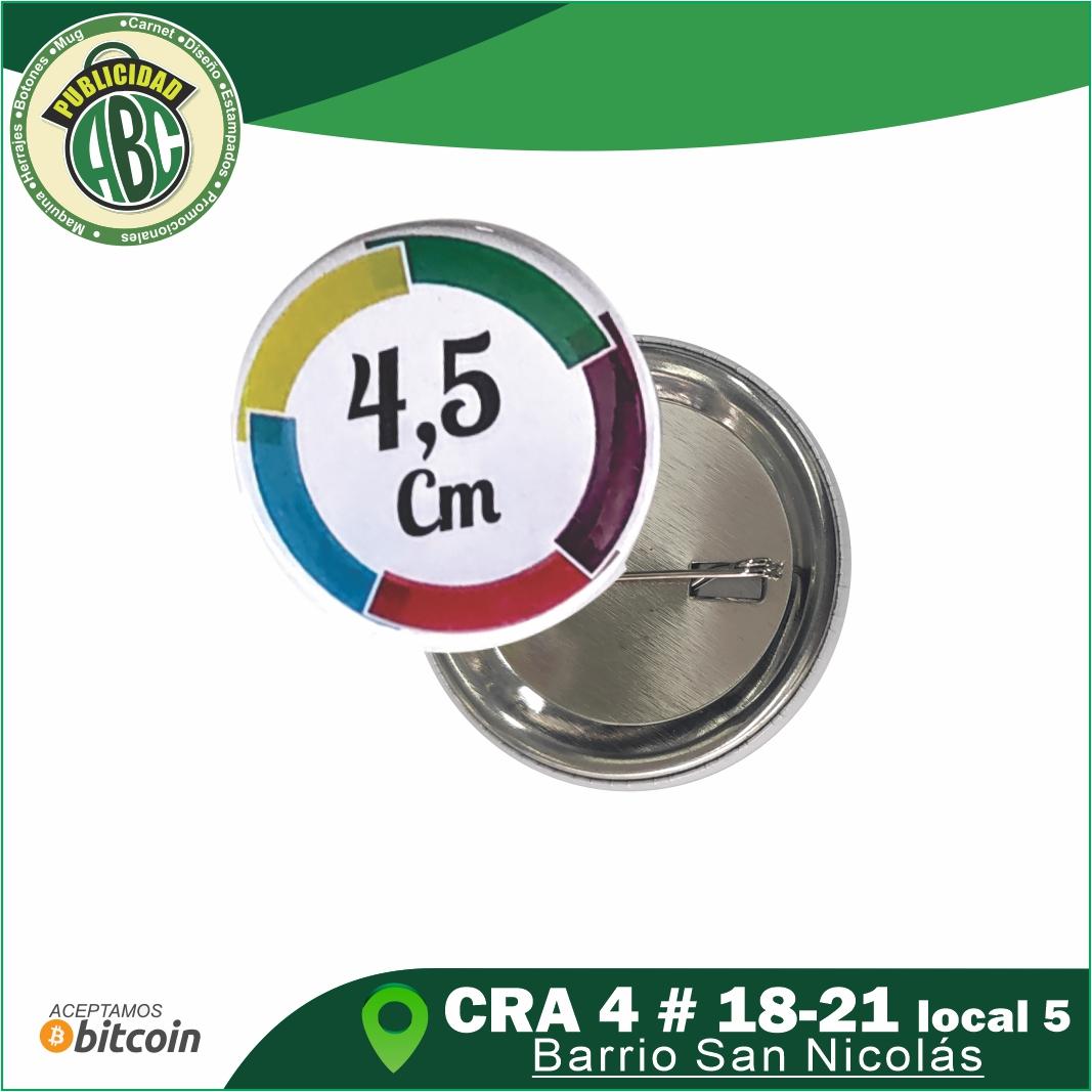 Botones Publicitarios 4.5 cm