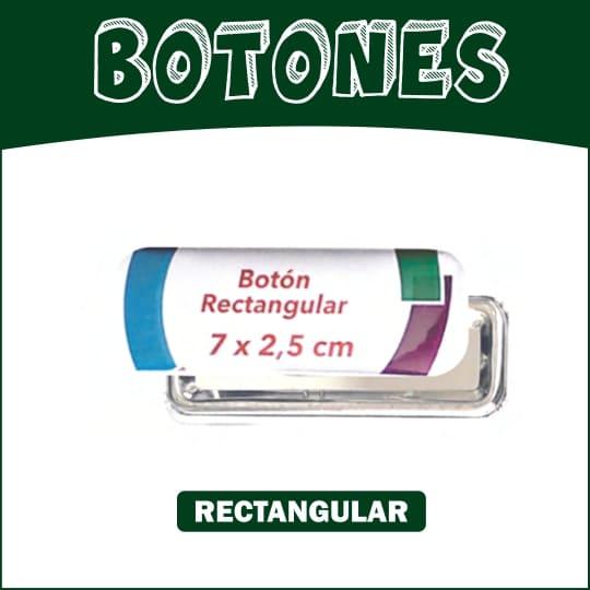 Boton Rectangular de 7 x 2.5 cm
