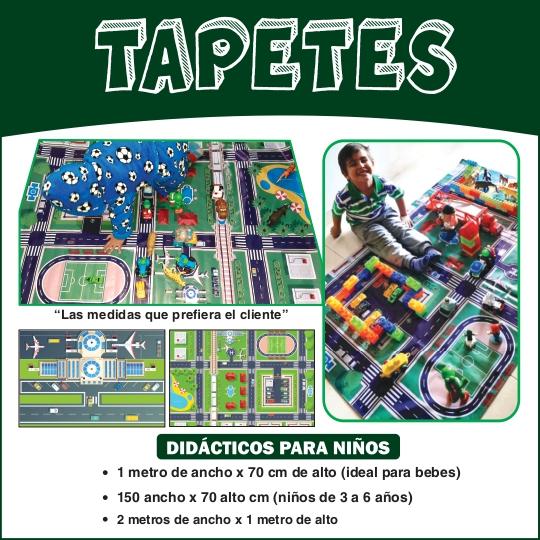Tapetes didacticos para niños en lona de pendon